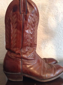 Bottes cuir WESTERN BOULET, pointure 10 hommes, $60