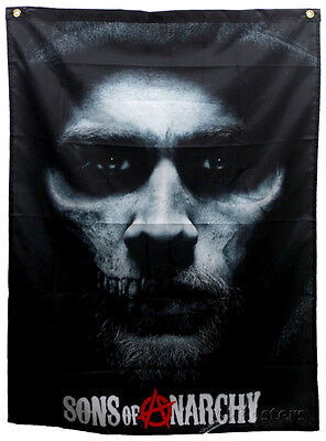 Sons Of Anarchy   Jax Skull Banner Fabric Poster Print  29X38