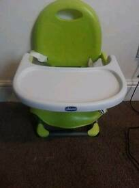 Chicco pocketsnack highchair/booster seat