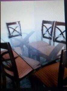 mobilier de cuisine de 6 chaise