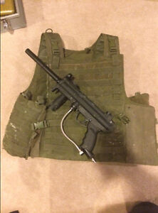 Tippmann A-5 and tactical vest