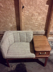 OLD TELEPHONE CHAIR DESK