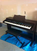 Electric Piano and Bench