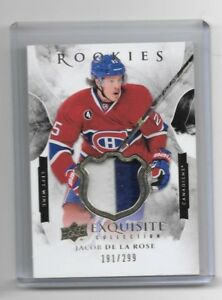 2015-16 UD BLACK DIAMOND JACOB DE LA ROSE ROOKIES EXQUISITE PATC