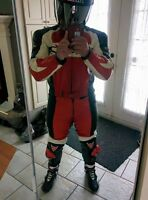 SUIT DAINESE RED AND WHITE