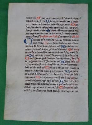 c. 1450 MEDIEVAL MANUSCRIPT  ON VELLUM , CARTHUSIAN  PRAYER BOOK