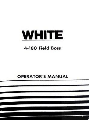 Oliver White 4-180 Field Boss Tractor Owners Operators Manual