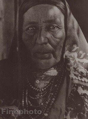 c.1900/72 Photogravure NATIVE AMERICAN INDIAN Isleta Woman ~ EDWARD CURTIS 11x14