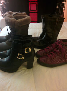 Size 5 boots and shoes 5$ each or 10$ for all