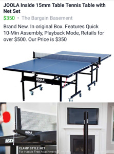 Tennis Table with net.