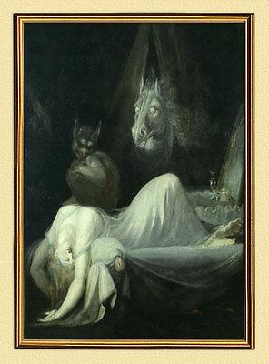 J. H. FÜSSLI FUSELI NACHTMAHR II. um 1790 SCHWEIZ auf LEINWAND 4 im Goldrahmen