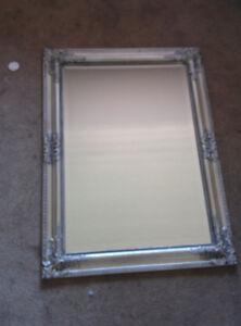 Silver Beveled Mirror (24 x 32 inches)
