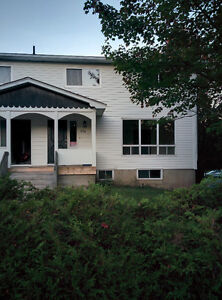 Beautiful large three bedroom side by side duplex for rent immed
