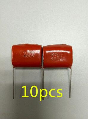 10x Cbb21 Cbb22 475j Metallized Polyester Film Capacitor 4.7uf 5 400vdc P25