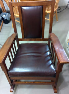 Solid Wood Rocking Chair (seat cusion needs repaired)