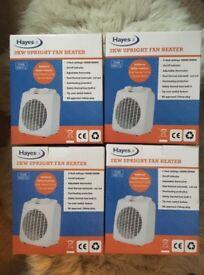 4 x Hayes UK 2KW fan heaters (998772)