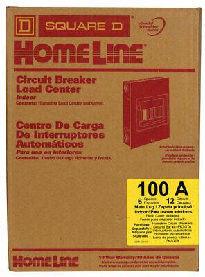 HomeLe 100 amps 120/240 volt 6 space Flush Mount Ma Lug Load Center 100a Flush Load Center