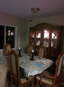 Beautiful Wood Dining room suite