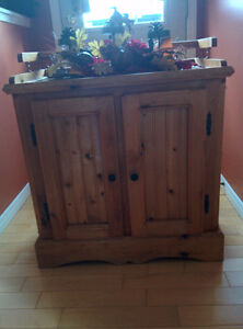 Pine Dry Sink Cabinet