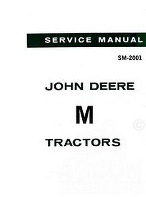John Deere M Tractor Service Repair Shop Manual 2001