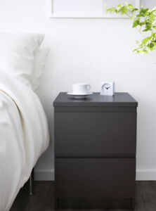 IKEA MALM SERIES BLACK SIDE TABLES (set of 2) GREAT CONDITION