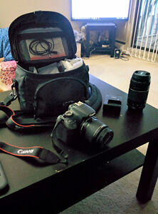 Canon Rebel T5 with 2 lenses 32 gb in mint condition