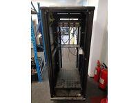 Usystem 19 Inch Floor Standing IT Network Data Cabinet Enclosure Rack Glass Door