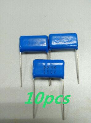 10pcs 225k Metallized Polyester Film Capacitor 2.2uf 250vdc -10