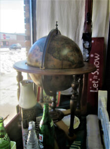 Globe with Bar, Picture Frames and Art, Mini Bottles, Animals