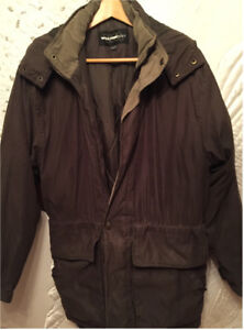 Men's fall / winter jacket (Brown, Size Small  34-36)