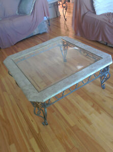 marble / glass coffee and end table