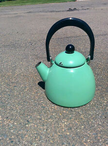 Antique Enamel Kettle