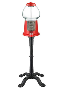 15-Inch Vintage Candy Gumball Machine and Bank with Stand