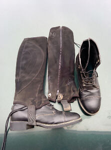 Girl's horse riding boots and chaps