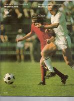 Soccer magazine Montreal Olympique 1976 RARE