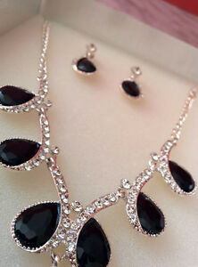 Beautiful Diamond Necklace Set! Used Once!