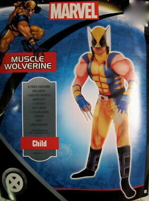 Wolverine X-Men Child Muscle Costume Marvel Comics Size Small 4-6 NIP](Wolverine Child Costume)