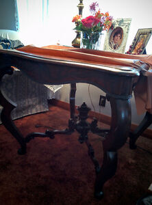 Antique bent wood table
