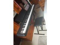 Yamaha P115 Electric Piano. Perfect condition with stool, pedal and power cable