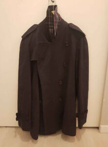 AUTHENTIC BURBERRY MENS LARGE 42 DOUBLE BREASTED VINTAGE TRENCH