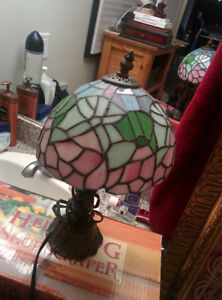 Small Tiny Cute Night Table Stained Glass Lamp