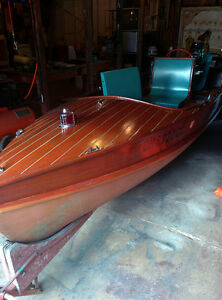 1955 wagemaker wolverine 14' mahogany runabout antique boat