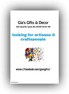 looking for local artisans and craft people