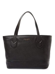 Marc Jacobs Black Leather Travel Tote / Bag / Purse