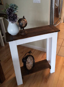 Rustic Country Chic Sofa Table