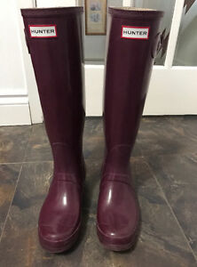 Authentic HUNTER ORIGINAL TALL GLOSS BOOTS