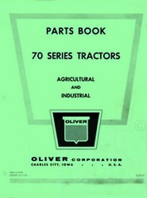 Oliver 70 Standard Row Crop Industrial Part Manual