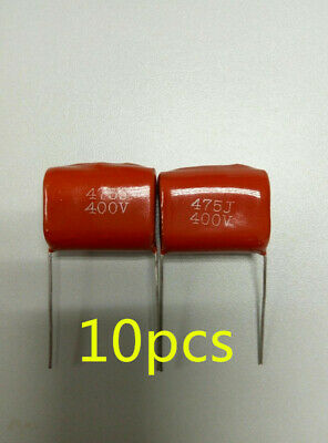 10x Cbb21 Cbb22 475j Metallized Polyester Film Capacitor 4.7uf 5 400vdc P25mm