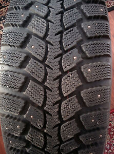 205 55R 16 Winter studded tires with rims.