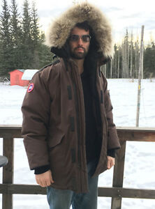 Canada Goose Heli-Arctic Parka Brown Large Authentic